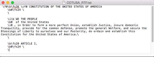 Constitution in RTF markup
